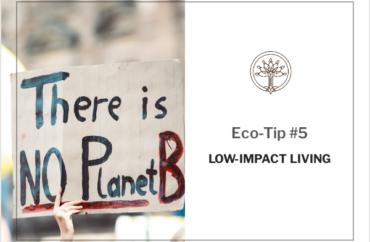 Eco-Tip #5: Low-Impact Living - Cosmética Orgánica - Tierra de Ceibas